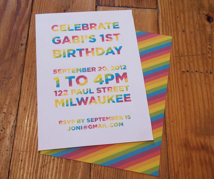 Rainbow Birthday Invites