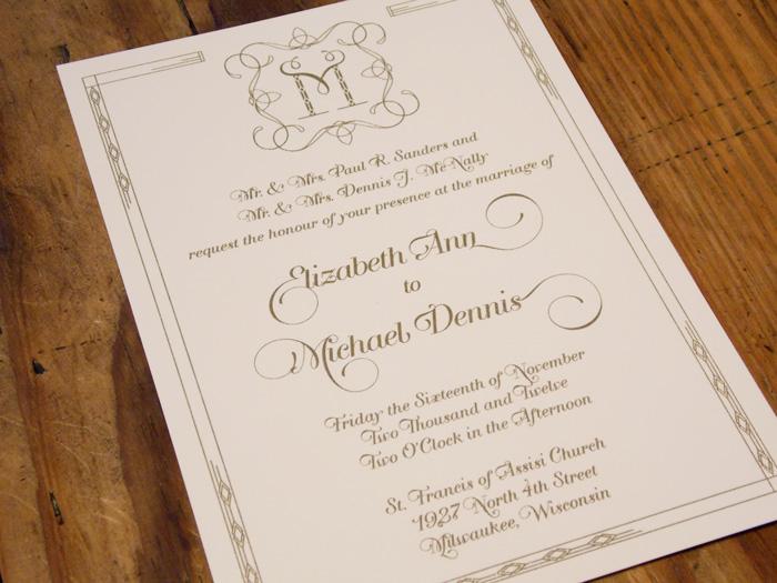McNally Wedding Invitation