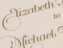 McNally Wedding Invitation