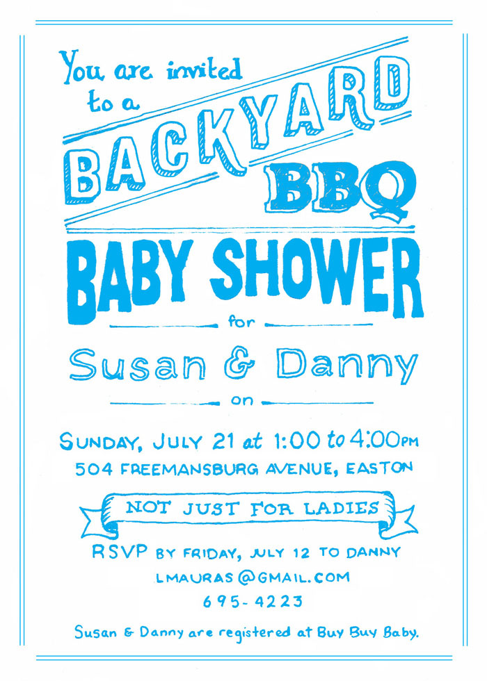 Backyard BBQ Shower Invite | NJMJ design