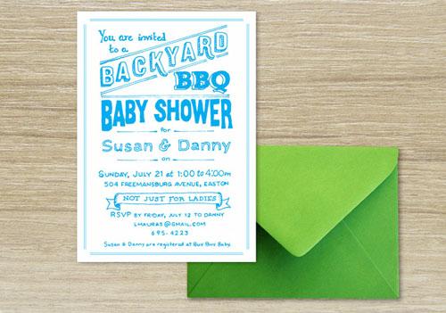 Backyard BBQ Shower Invite